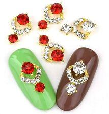 "New"" DIY 3D Nail Art Decoration Bows Flowers Roses Rhinestone Gems Stickes UK#1"