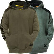 CAT Workwear Mens Logo Panel Cotton/Polyester Hooded Sweatshirt