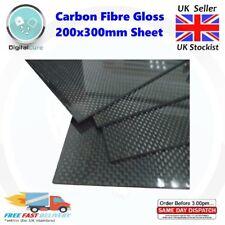 1mm 1.5mm 2mm 3mm 4mm Carbon Fiber Fibre Board Sheet 300mm x 200mm GLOSS Twill