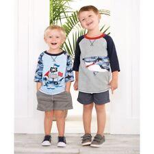 Mud Pie E8 niño infantil Camuflaje pirata tiburón Camisetas 1052217 Elegir