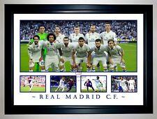 REAL MADRID TEAM 2017/18 RONALDO BALE RAMOS VIEIRA KROOS LLORENTE PHOTO COLLAGE