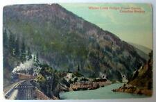 Railroad Train Whites Creek Fraser Canyon Postcard #7008h