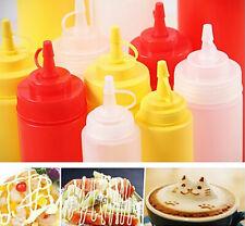 1PC Squeeze Bottle Condiment Dispenser Ketchup Mustard Sauce Vinegar Holder
