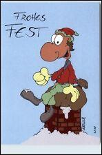 Weihnachten Frohes Fest Grusskarte Karrich Karikatur Ungelaufen Ungebraucht