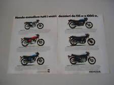advertising Pubblicità 1978 HONDA 125/250/400/500/750