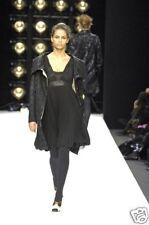 BASSO & BROOKE  Black Pleated Silk Dress  NEW  44  10