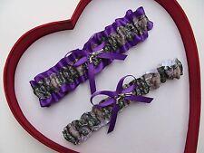 NEW Mossy Oak Camouflage Camo Purple Wedding Garter Prom Hunting Chick Gun