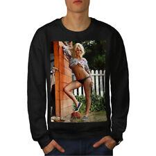 Hot Girl Nude Erotic Sexy Men Sweatshirt NEW   Wellcoda