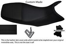 BLACK STITCH CUSTOM 06-12 FITS SUZUKI GSR 600 REAL LEATHER DUAL SEAT COVER