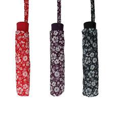 Mujer uu268 rojo / Negro / Lila Floral Paraguas de Drizzle Al Por Menor
