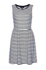 94d7d4431416ec Kleid Only Jersey Baumwolle marine blau weiß gestreift kurz Gr S M L