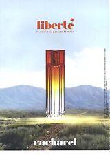 PUBLICITE  ADVERTISING 2008  CACHAREL parfum LIBERTE