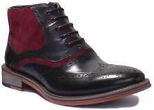 Justin Reece Hawkin Men Leather Matt Hi Top Boots