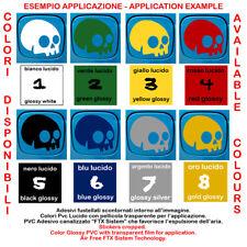 adesivi fustellato auto casco teschio skull sticker vinil motocycle helmet 1 pz.