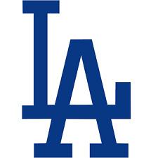 "Los Angeles Dodgers MLB ""LA"" Vinyl Decal for Car Windows, Cornhole Game, Yeti"