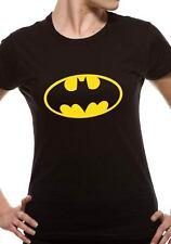 BATMAN T SHIRT Official Merchandise LOGO (FITTED) Black t-shirt PE10797SKBPS
