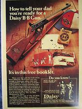 1950's DAISY B B GUN GOLDEN BULLSEYE Store Color Sign