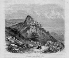 Stampa antica CERVARA Campagna di Roma 1869