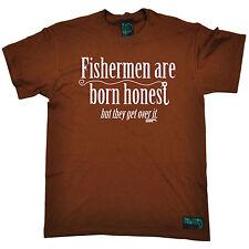 Los pescadores nacen honesto para hombre ahogado gusanos Camiseta Camiseta Pesca De Regalo De Cumpleaños