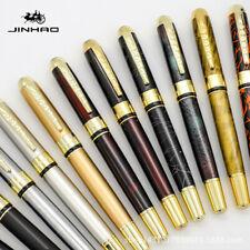 Jinhao 250 Smooth Metal Clip Fountain Pen Medium Fine Nib 0.5mm Writing Gift New