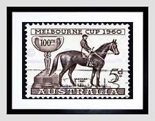 Estampilla Australia Vintage Melbourne Cup Archer B12X8853 impresión arte enmarcado