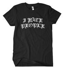 I Hate people t-shirt hardcore Fuck nazis gueto sistema música punk emo demo Oi