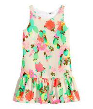 H&M Mädchenkleid Sommer Tunika Festkleid Markenkleid Baumwollkleid Gr. 110-122