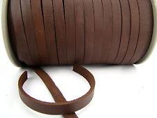 Cordon cuir (à partir de 1,8 €/m) plat 10 x 2,5 MM. Marron. Cuir Courroie. longueur: au choix