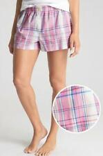 3596b4c3e9 NWT GAP Women s LOVE By GapBody Poplin Pajama Lounge Shorts Pink Plaid  19   V3
