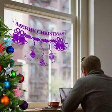 NATALE BALL & Bell shopwindow Mostra finestra Wall Art Decorazione Adesivo Decalcomanie