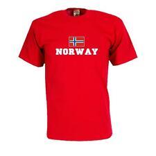 T-Shirt NORWEGEN (Norway), Flagshirt, Fanshirt S - 5XL (WMS02-44a)