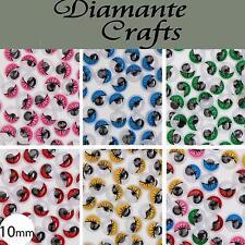 10mm Googly Eyes with Eyelashes Wiggle Woobly Craft Eyes Choose Colour Quantity