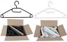 50 Stück Kunststoff Antirutsch Kleiderbügel Drehbare Haken Schwarz oder Weiss