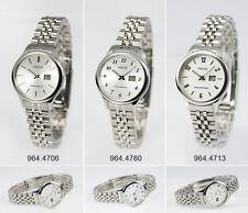 Elegante Edelstahl Damen Funk Armbanduhr mit Junghans-Uhrwerk Funkuhr Damenuhr