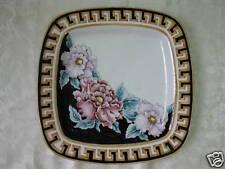 piatto quadrato ceramica dipinto a mano