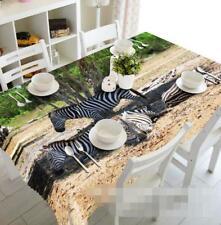 3D Zebra 887 Tischdecke Tischdecke Tuch Geburtstagsfeier Event AJ WALLPAPER DE