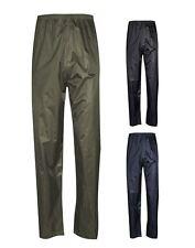 Mens Lightweight Fishing Black Waterproof  Outdoor Rain Pants Over Trousers