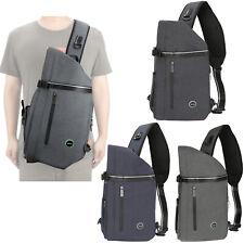 Men Large Laptop Sling Bag Backpack Purse Canvas Nylon Travel School Bag