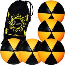 ASTRIX UV Juggling Balls - Set of  5 + Travel Bag (ORANGE)