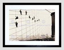 85723 NEW YORK PAINTER BROOKLYN BRIDGE SUSPENDER CABLE WALL PRINT POSTER FR