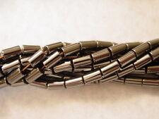 16 Inch Strand of Hematite Tube Beads 4 x 8MM