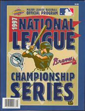 1997 NLCS Playoffs Program Marlins vs Braves Program