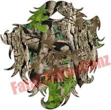 Camo Beard Vinyl Sticker Decal hunting hair redneck woodsman