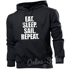 Eat Sleep Sail Repeat Mens Womens Hoodie  Sea Hoody Gift Yacht New Sailing