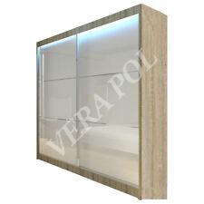 WARDROBE FULL LACOBEL GLASS + LED sliding door bedroom furniture LIVING MRVI200