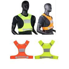 High Visibility Reflective Night Running Vest Jogging Bike Walking Stripe Jacket