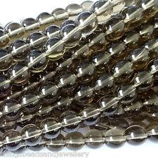16 pouces gemstone Fumée Quartz perles rondes de 4mm 6mm 8mm