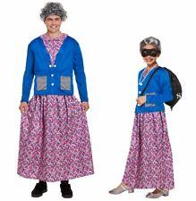 Kids Adults Groping Granny Costume Ladies Flasher Grandma Fancy Dress Costume
