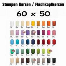 24x Stumpen Kerzen 60x50mm 1.Wahl Qualität / Kerzen Wiedemann / neue Farben 2016