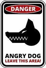 FUNNY Cartello Di Avvertimento Pericolo ANGRY DOG Adesivo Autoadesivo